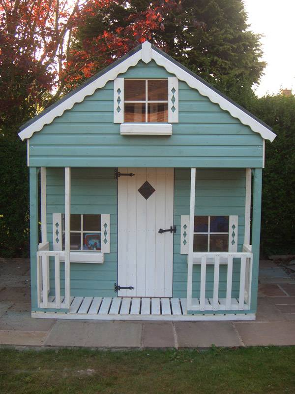 Two Storey Playhouse Made By West Lancs Sheds