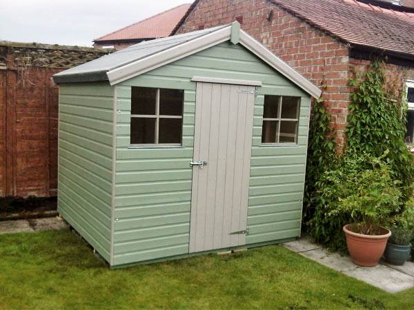 Willow Amp Cream 10x8 Garden Shed Made By West Lancs Sheds